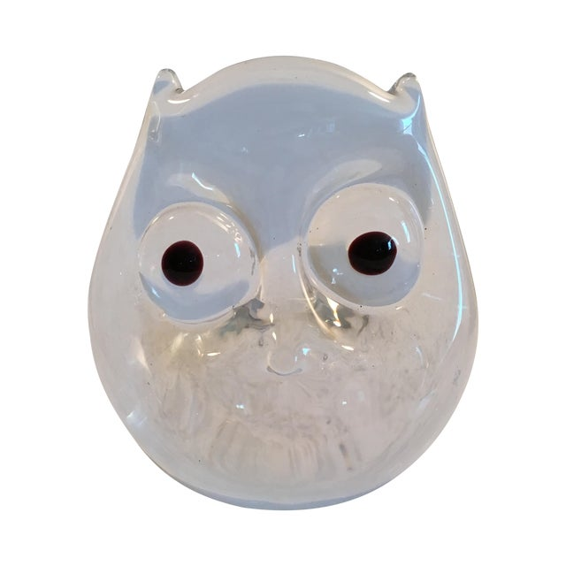 Vintage Art Glass Owl - Image 1 of 8