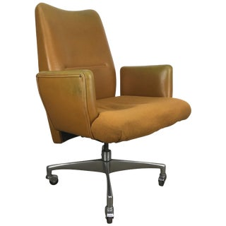 1960s Modernist Executive Oversized Desk Chair For Sale