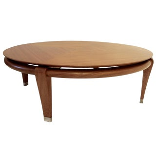 Paul Laszlo for Brown Saltman Round Coffee Table in Mahogany, Model 145 For Sale