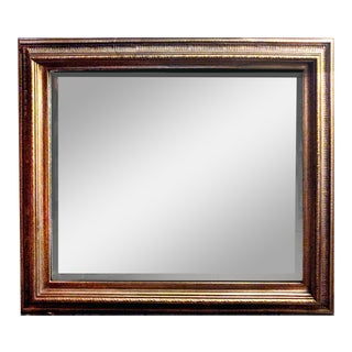 French Louis XVI Style Gold Painted Rectangular or Horizontal Beveled Mirror For Sale