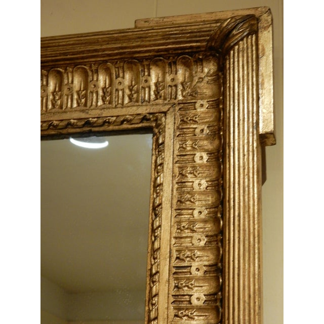 French 19th Century French Gold Gilt Mirror For Sale - Image 3 of 7