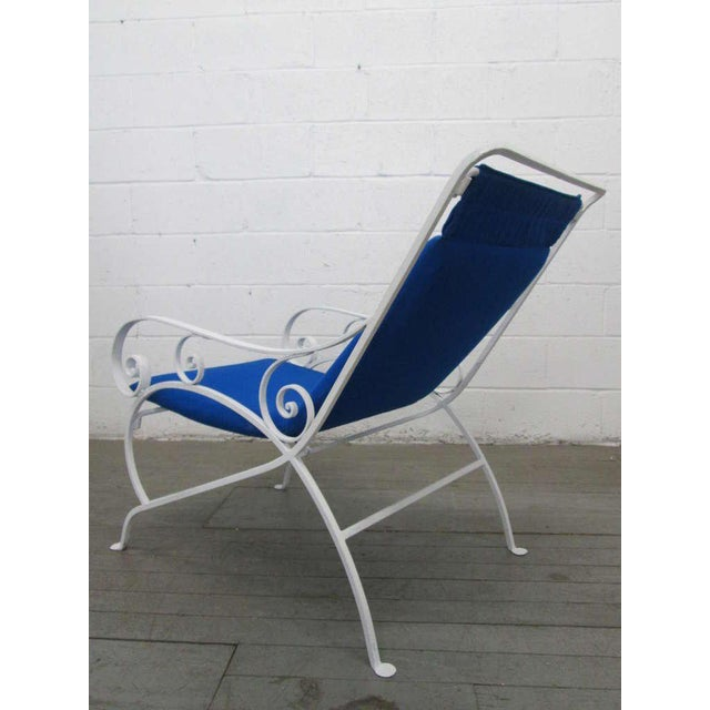 1960s Pair of Wrought Iron Lounge Chairs For Sale - Image 5 of 9