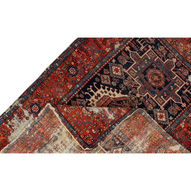 """Traditional Antique Persian Heriz Rug, 4'6"""" X 6'2"""" For Sale - Image 3 of 9"""