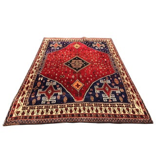 1950s Vintage Persian Rug - 5′2″ × 7′10″ For Sale