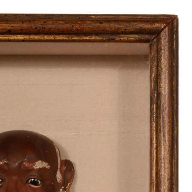 Antique Japanese Noh Mask Collection Framed Shadowbox For Sale - Image 10 of 12