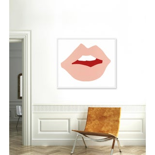 "Large ""Kiss Me (Pink)"" Print by Angela Chrusciaki Blehm, 43"" X 37"" Preview"