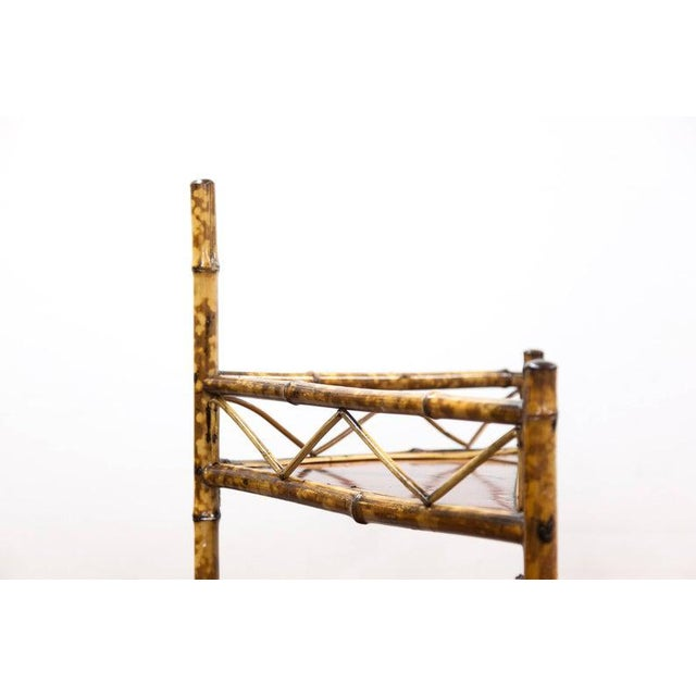 Wood Late 19th Century Bamboo & Lacquer Corner Stand For Sale - Image 7 of 8