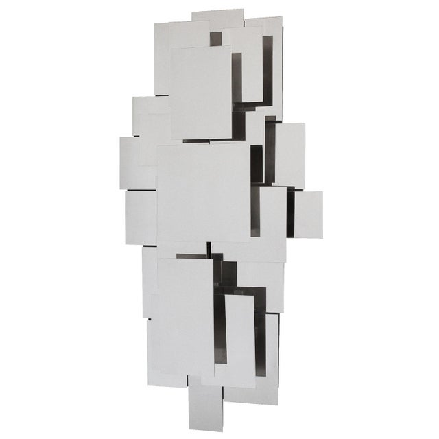 "Designer: attr. Reggiani USA - Circa 1970s Dimensions: 47"" H x 23"" W x 8"" D Condition: Excellent vintage condition. Unique..."