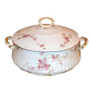 1940s Vintage Charles Fields Haviland Limoges Porcelain Vegetable Tureen