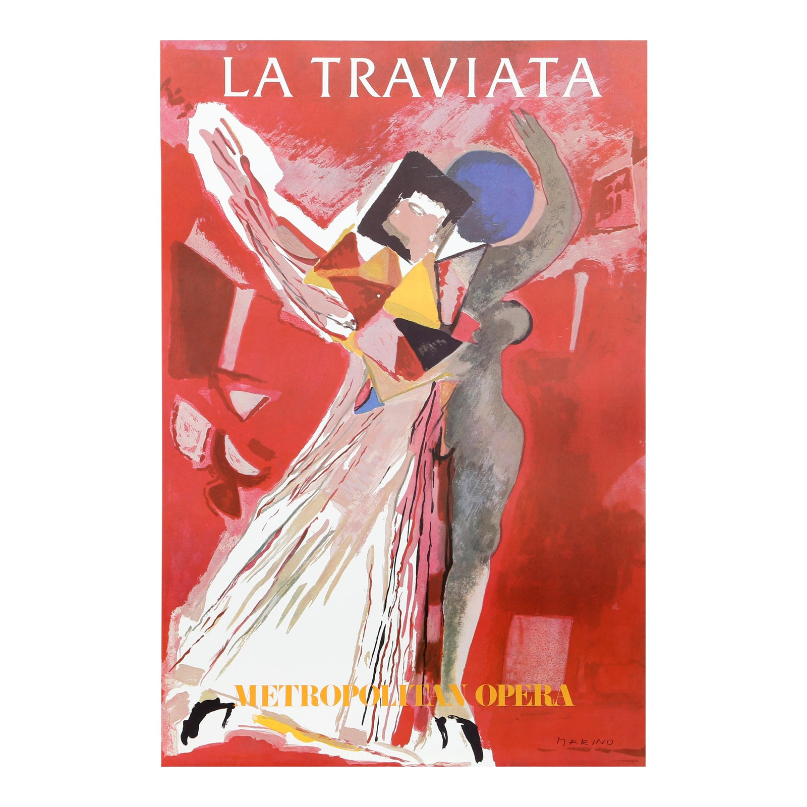 La Traviata Metropolitan Opera Mint Vintage Poster By Marino Chairish