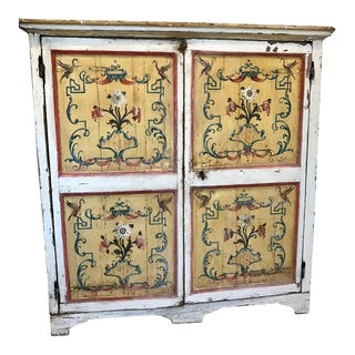 18th Century Italian Painted Cupboard For Sale
