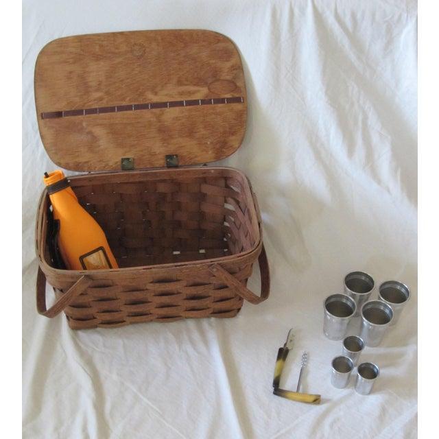 Vintage Picnic Drinks Basket For Sale - Image 6 of 6