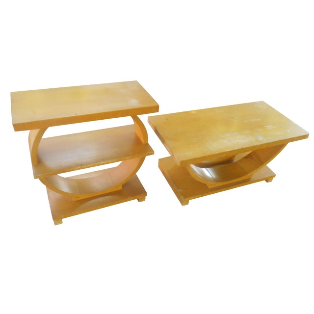 Art Deco Brown-Saltman Side Tables - A Pair - Image 1 of 4
