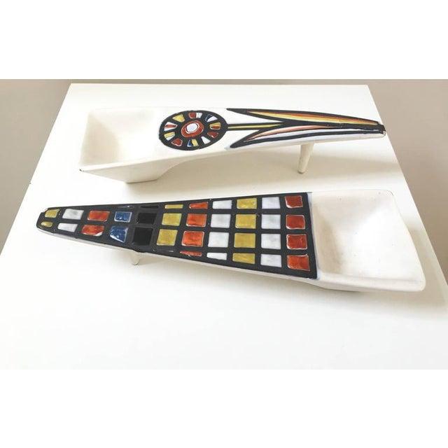 Roger Capron Signed Ceramic Dishes- Set of 2 - Image 3 of 11