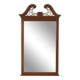 Ethan Allen Mahogany Arch Top Beveled Glass Mirror For Sale