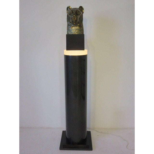 Memphis Styled Lucite Light Up Column Pedestal For Sale In Cincinnati - Image 6 of 6