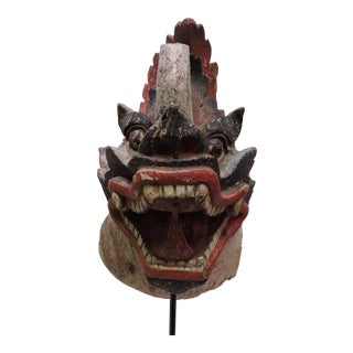 Antique Burmese Wooden Dragon Head