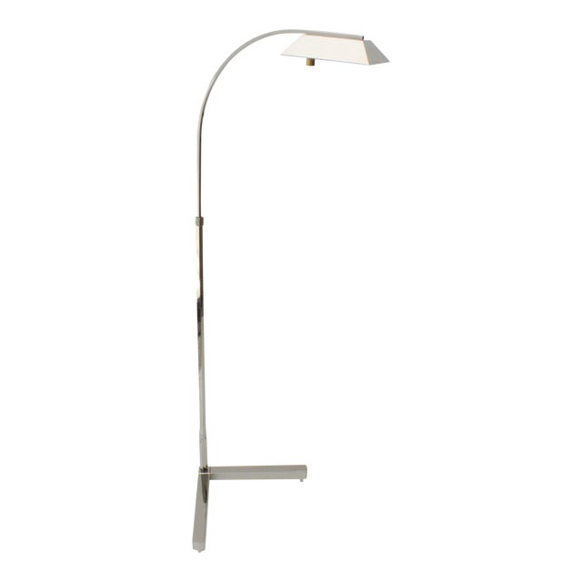 Casella Floor Lamp Nickel Plated For Sale