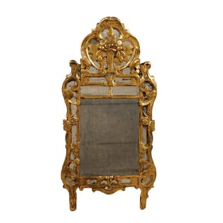 Early 19th Century French Rococo Style Giltwood Mirror For Sale