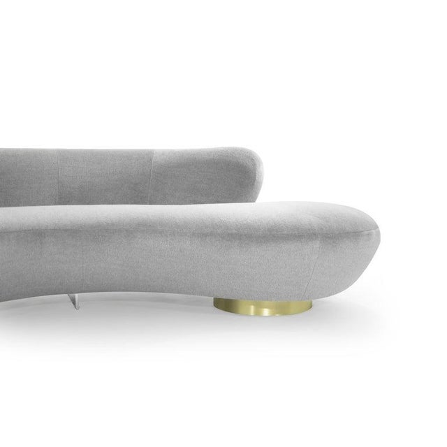 Serpentine Sofa by Vladimir Kagan in Grey Royal Alpaca For Sale - Image 9 of 13