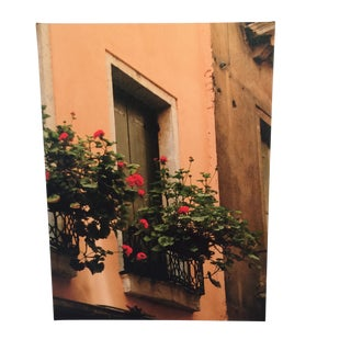 Venice Italy Window Photograph Giclee on Canvas For Sale