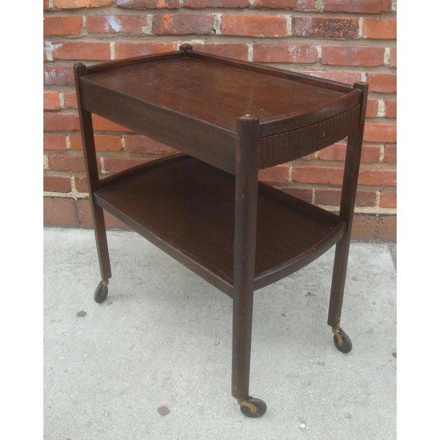Vintage Streamline Moderne Tea Cart or Bar Cart Art Deco For Sale - Image 12 of 12