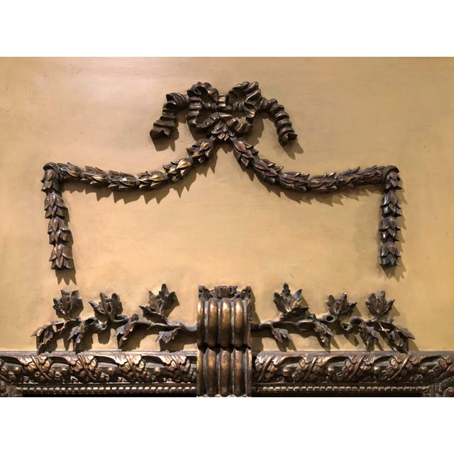 French Antique French 19th Century Louis XVI Panel Trumeau. For Sale - Image 3 of 4