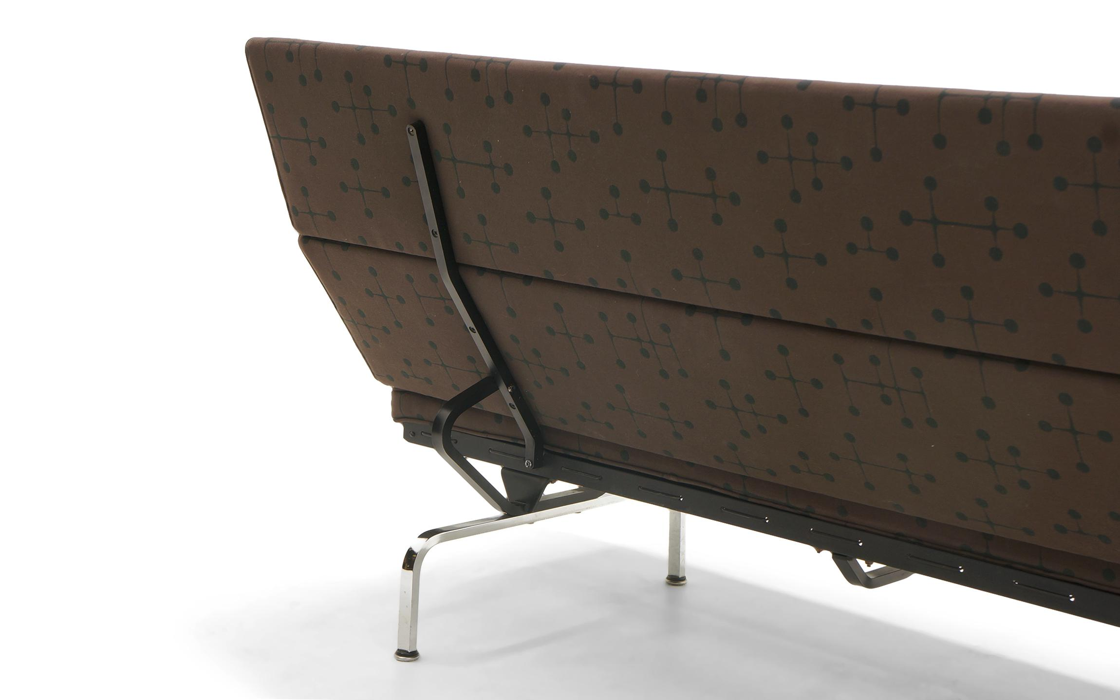 Attractive Charles And Ray Eames Sofa Compact For Herman Miller In Eames Dot Pattern  Fabric   Image