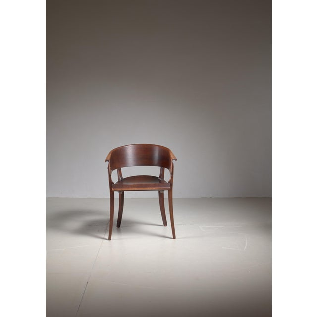 Ernst Rockhausen Ernst Rockhausen Bauhaus Style Plywood and Oak Chair, Germany, circa 1928 For Sale - Image 4 of 9