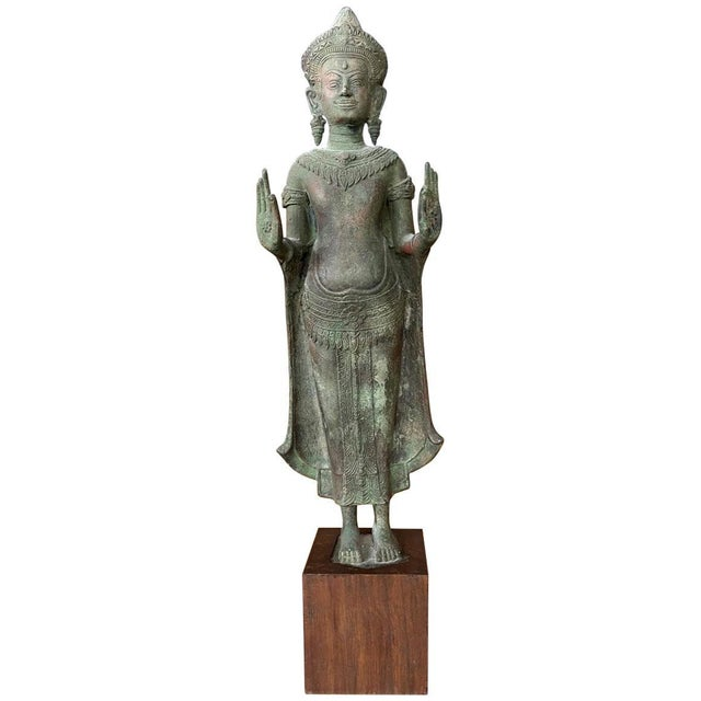 Antique Lopburi Buddha Statue from Thailand For Sale - Image 13 of 13