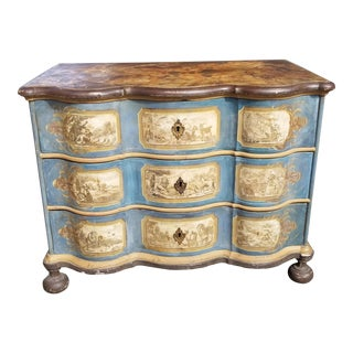 1750 Antique Italian or German Baroque Style Chest of Drawers For Sale