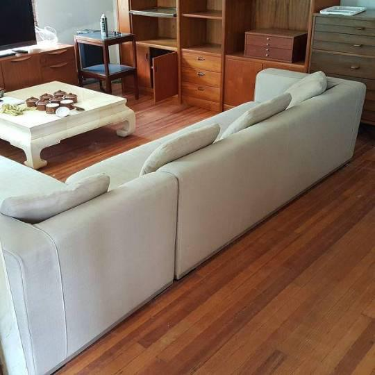 Antonio Citterio for B&b Italia Sectional Sofa & Large Ottoman For Sale - Image 11 of 13