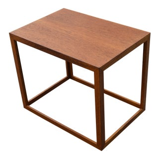Modern Wooden Cube Side Table