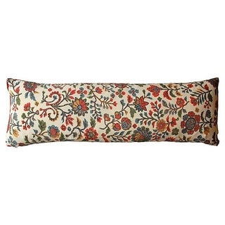 Japanese Silk Vintage Printed Pillow For Sale
