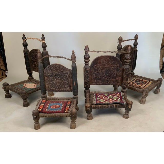 19th Century Tribal Bedouin Chairs - Set of 4 For Sale - Image 12 of 12