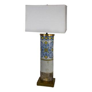 Antique Portuguese Roof Tile Lamp For Sale