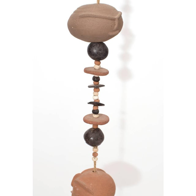 Contemporary Phenomenal Ceramic and Rope Wall Sculpture For Sale - Image 3 of 5