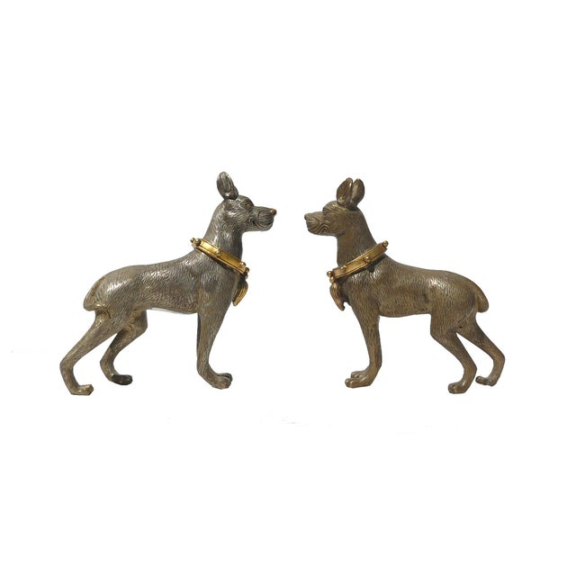 Metal Mini Table Top Dogs Figure - Pair - Image 4 of 5