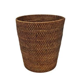 Tea Stain Rattan Basket For Sale