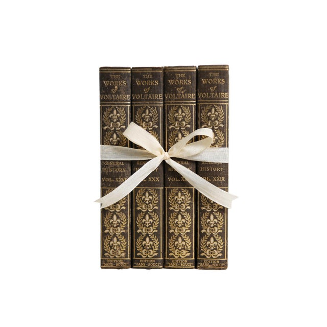 Vintage Voltaire Gilted History Gift Set, S/4. Features a blend of four authentic vintage books published 1901-1905....