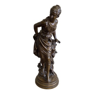 19th Century Vintage Mathurin Moreau French Bronze Sculpture For Sale
