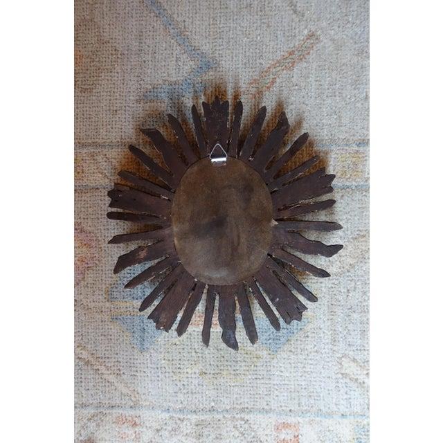 Wood 1960s Italian Giltwood Sunburst Mirror For Sale - Image 7 of 8