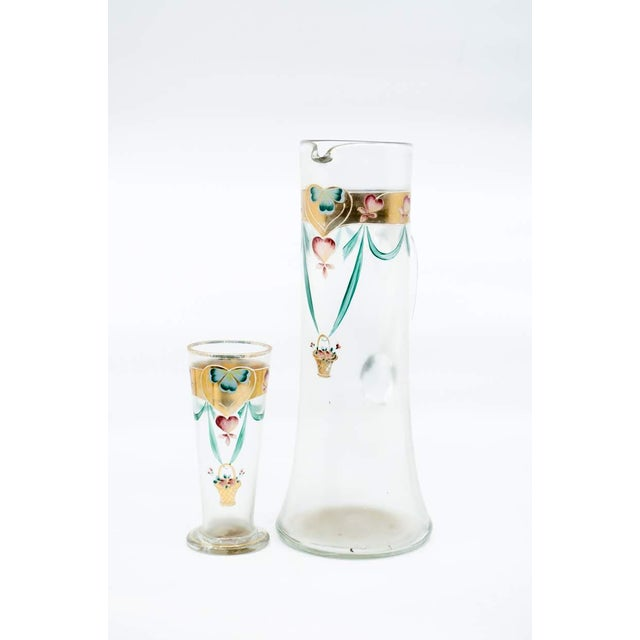 Early 20th C. Victorian Lemonade/Juice Glasses - Set of 7 For Sale - Image 4 of 13