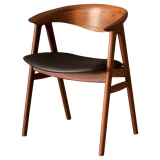 Danish Walnut Compass Dining Chair by Erik Kirkegaard For Sale