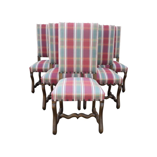 French Louis XIII Dining Chairs - Set of 6 - Image 1 of 7