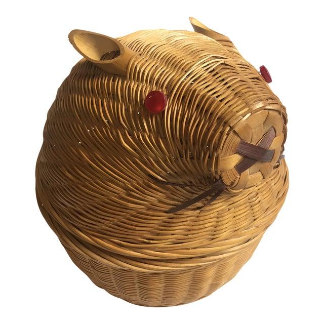 Vintage Wicker Rabbit Basket - Image 1 of 6