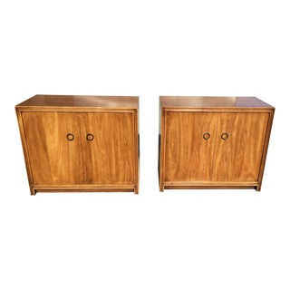 Mid-Century Modern Large Side Cabinet 'S/ Tables - a Pair