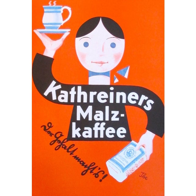 Original 1927 Lithographic Mini Poster of Kaffee - Image 2 of 4