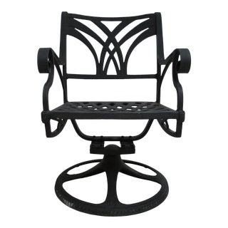 Cast Classics Monte Cristo Cast Aluminum Pario Dining Arm Chair For Sale