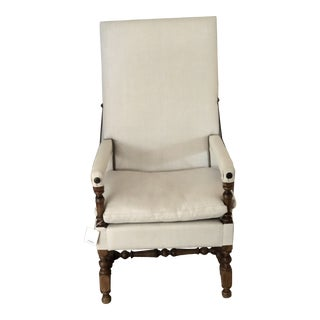 Mid 18th Century Antique Louis XIII Reclining Armchair For Sale